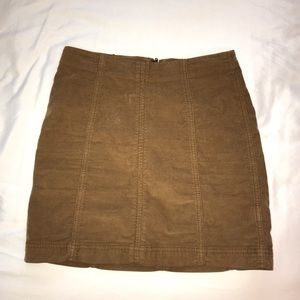 Free people tight brown skirt